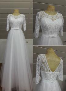 Фото Свадебные платья Свадебное платье с кружевными рукавами Джуди