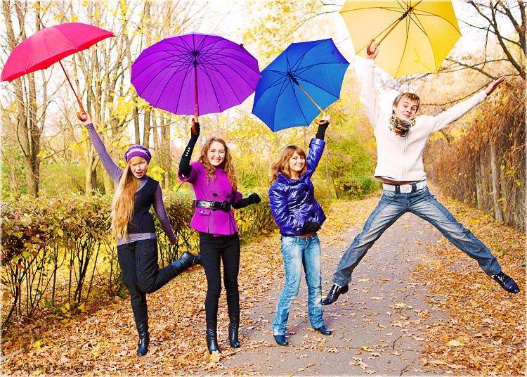 стильные зонты фото