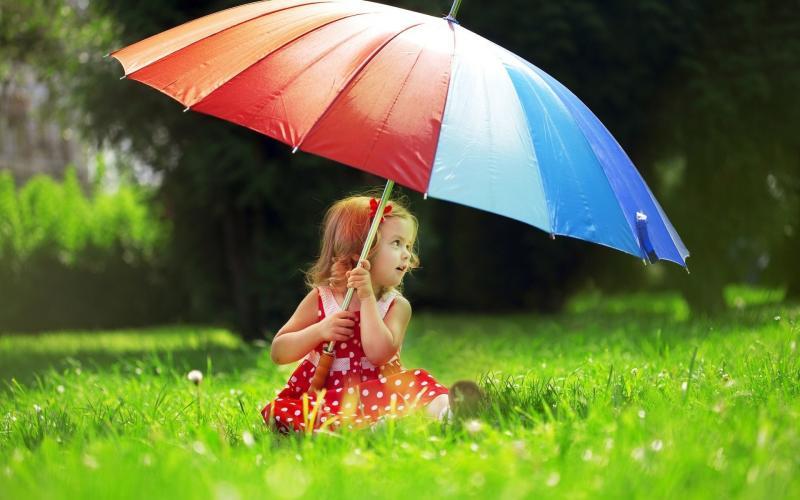 детские зонты фото