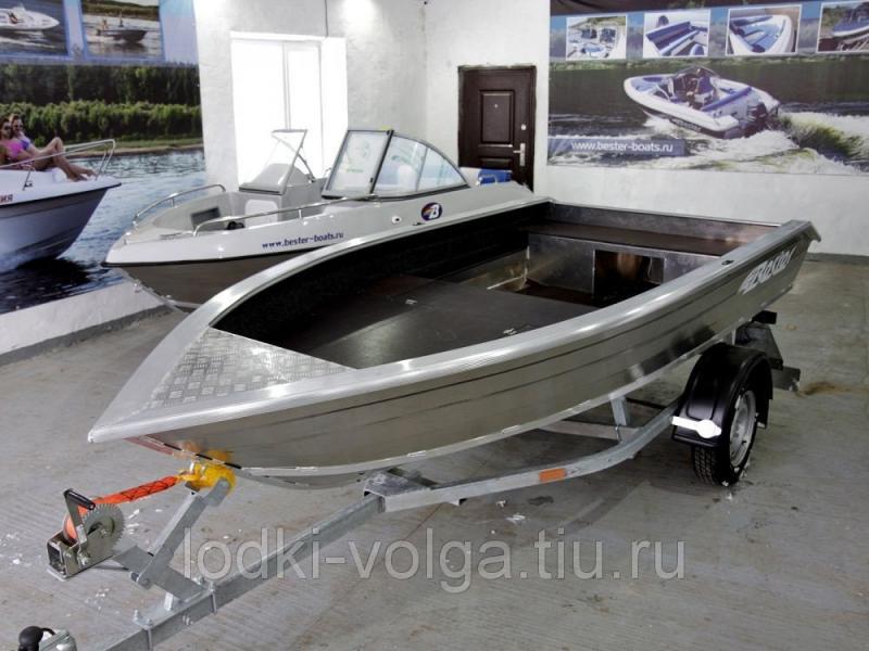 Моторно-гребная алюминиевая лодка Bester-390 fish