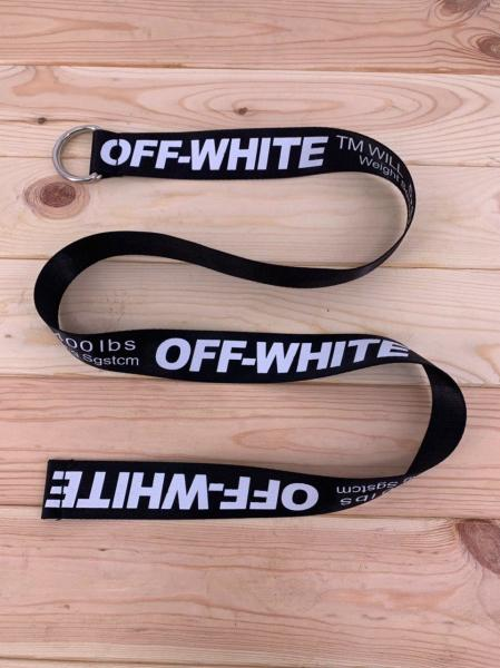 Ремінь Off-White black-white