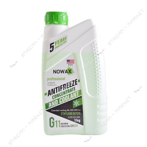 Антифриз NOWAX NX01010 G11 концетрат 1 кг зеленый