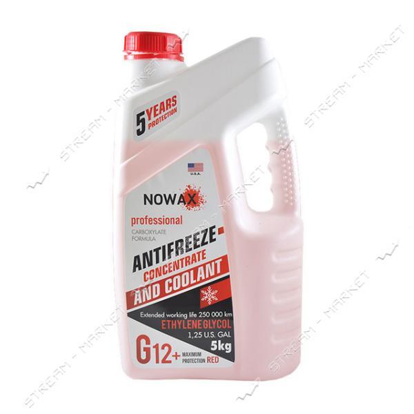 Антифриз NOWAX NX05004 G12 концетрат 5 кг красный