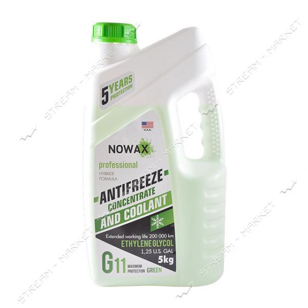 Антифриз NOWAX NX05005 G11 концетрат 5 кг зеленый