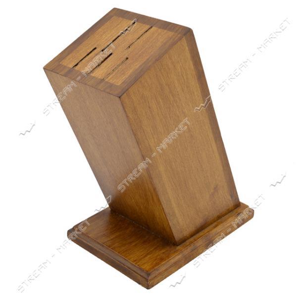 Подставка для ножей деревянная 5 отверстий 21см