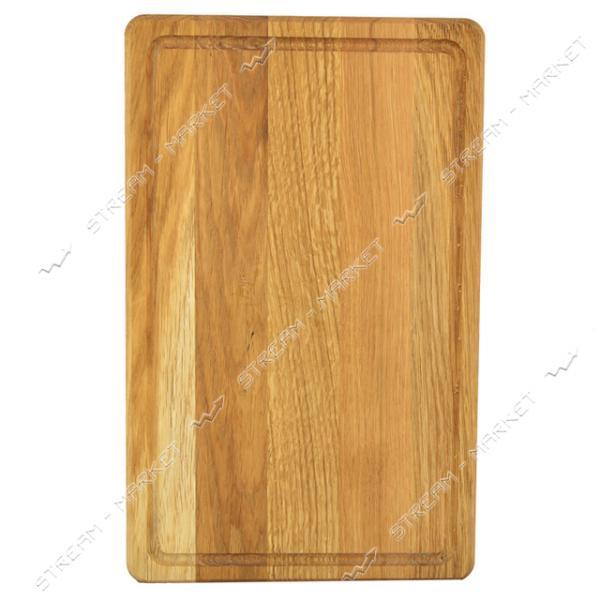 Доска деревянная дубовая резная 2x24x40см