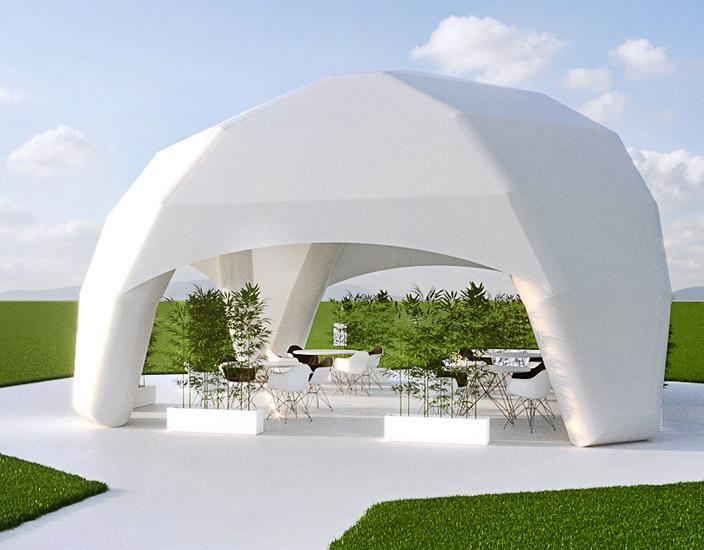 Проектирование, производство и монтаж, пневмокаркасных шатров.