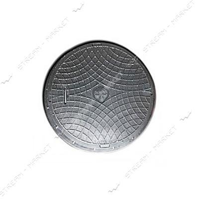 Люк Акведук 1т c замком полимерный внутренний d560 наружный d730 черный