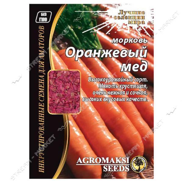 Семена Морковь АГРОМАКСИ Оранжевый мед 15г