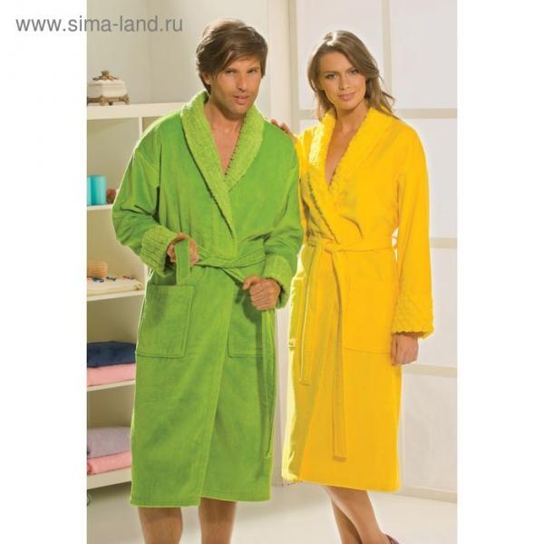 Махровый халат Angora, размер S, жёлтый