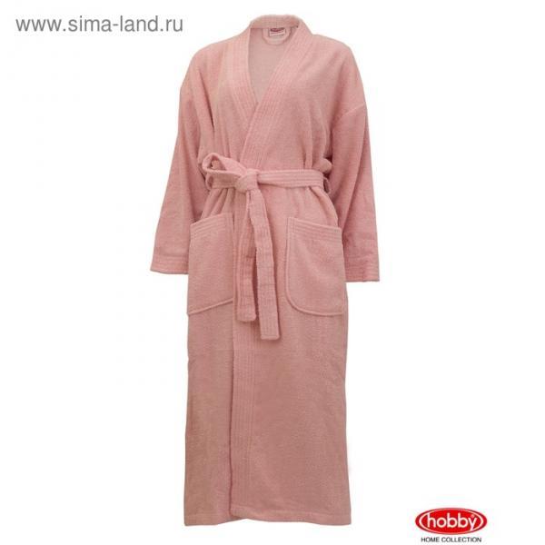 Халат женский Smart, размер ХL, розовый, махра 350 г/м2