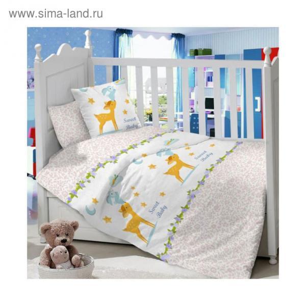Комплект в кроватку Bunny rose, 7 предметов, сатин