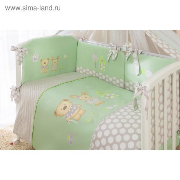 Комплект в кроватку «Венеция», 4 предмета, цвет салатовый