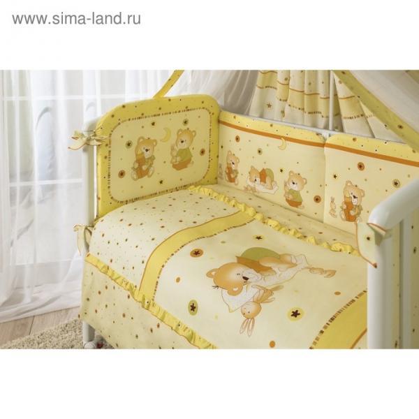 Комплект в кроватку «Ника», 4 предмета, цвет бежевый