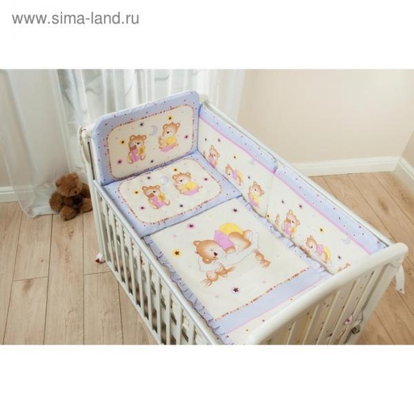 Комплект в кроватку «Ника», 4 предмета, цвет лиловый