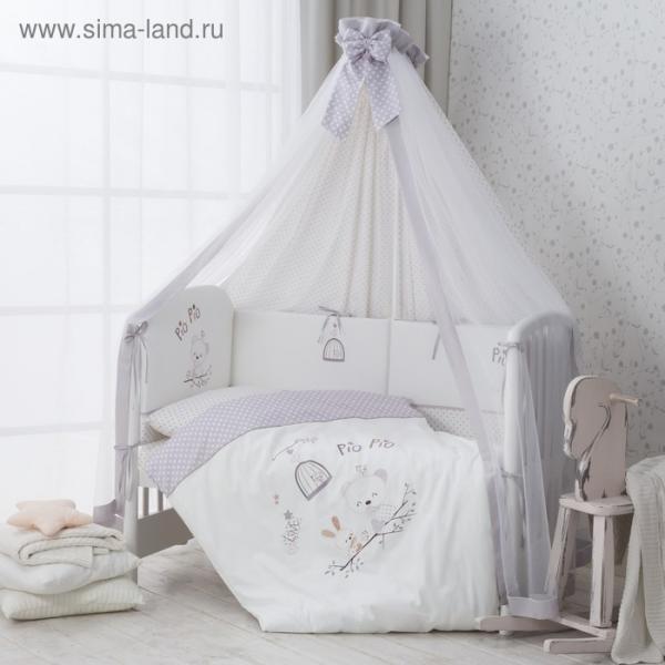 Комплект в кроватку Pio pio, 7 предметов, cатин
