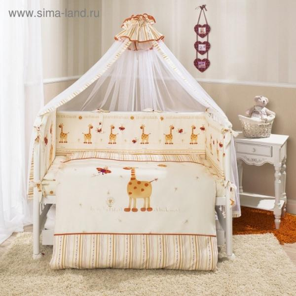 Комплект в кроватку «Кроха», 7 предметов, цвет бежевый