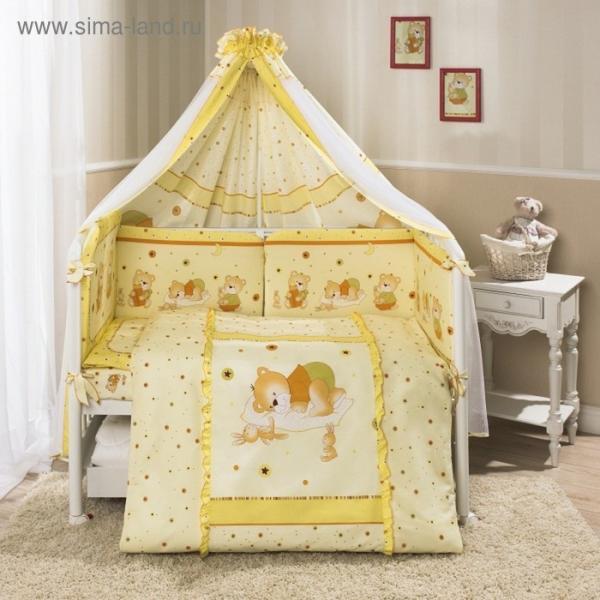 Комплект в кроватку «Ника», 7 предметов, цвет бежевый