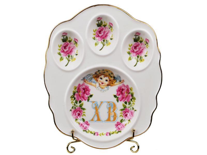 """Блюдо для яиц """"Христос Воскрес"""" 20 см, Lefard, 943-087"""