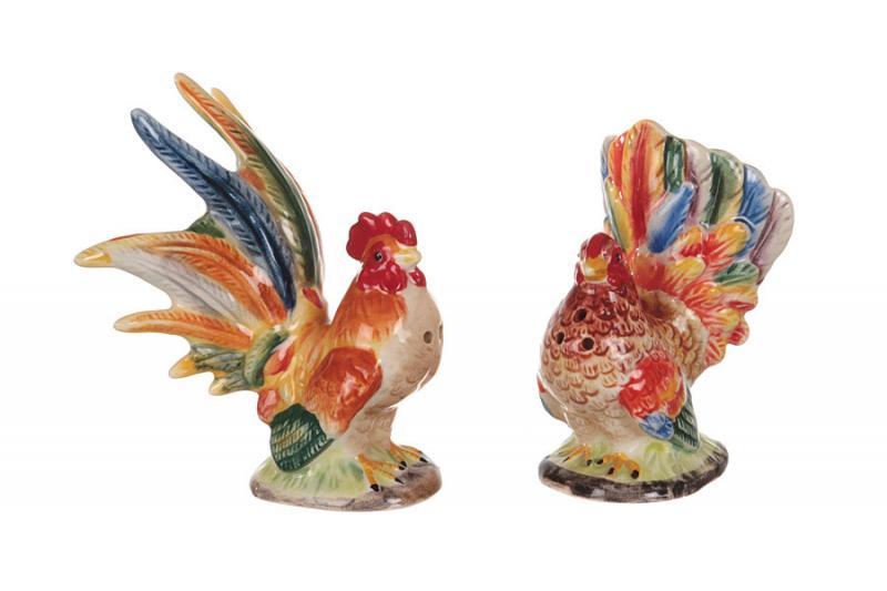 """Набор для специй """"петух и курица"""" 8 см 2 предмета, Lefard, 59-571"""