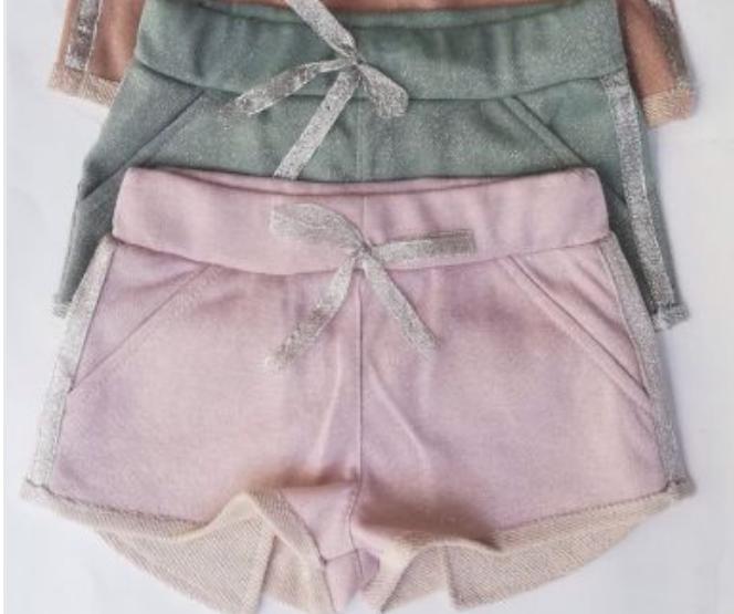 Модные шорты с люрексом 122-146см