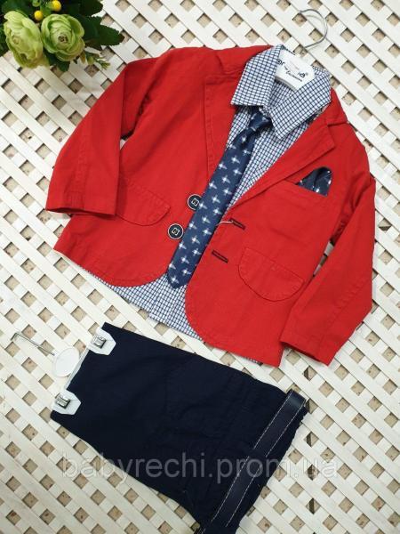 Детский нарядный костюм тройка  на мальчика 1-4 лет