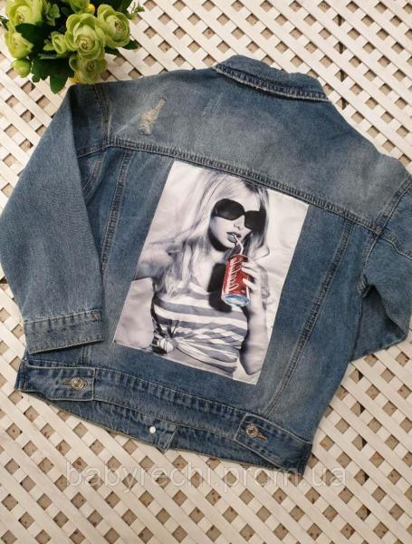Джинсовая куртка для девочки на 134-146