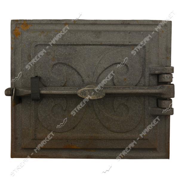 Дверца топочная чугунная на винте 27.5см х 24см