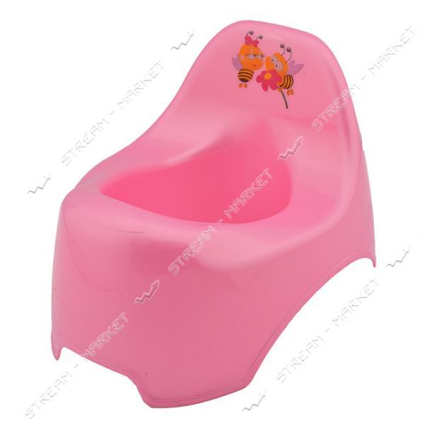 Горшок пластиковый детский уточка розовый