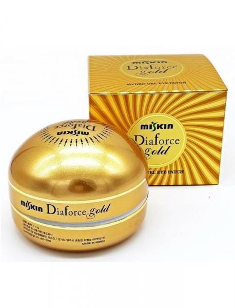 Гиалуроновые патчи с коллоидным золотом MISKIN Diaforce Gold