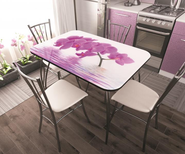 Фото Обеденные столы Стол обеденный стекло Орхидея (ДСВ)
