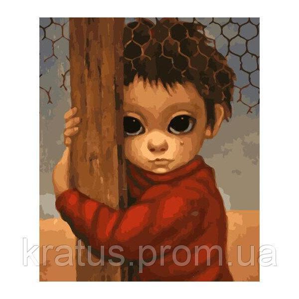 Фото Картины на холсте по номерам, Дети на картине GX 29238