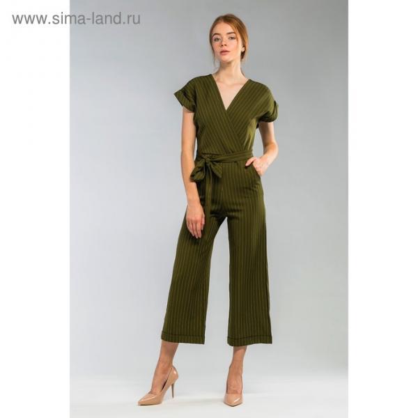 Комбинезон женский 194а цвет зелёный, р-р 44
