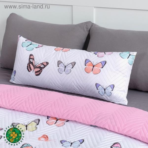 Подушка декоративная Экономь и Я «Бабочки» 30×80 см, 100% полиэстер