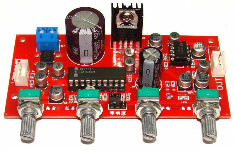 Темброблок LM1036 с предварительным усилителем NE5532