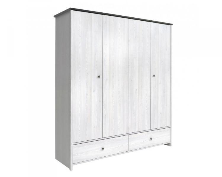 Шкаф платяной SZF4D2S Порто