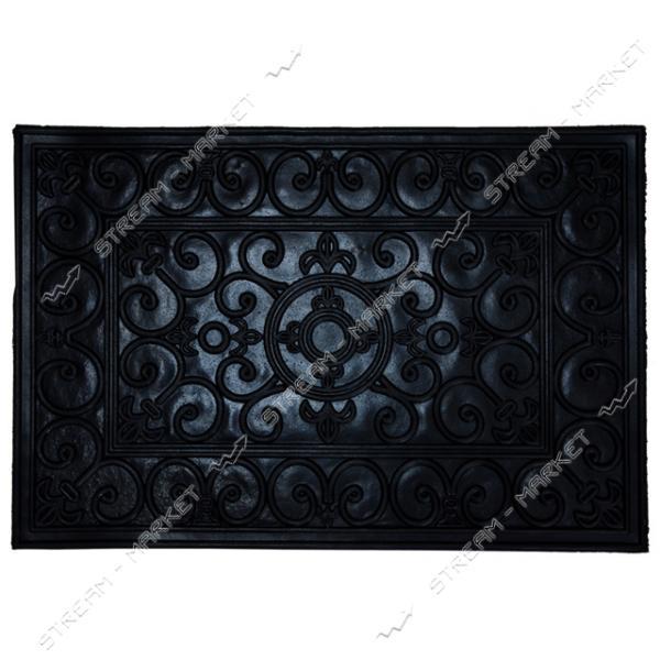 Коврик входной резиновый Вензеля 40х60см черный
