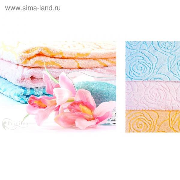 Полотенце махровое Privilea «Роза», 70х140 см, розовый