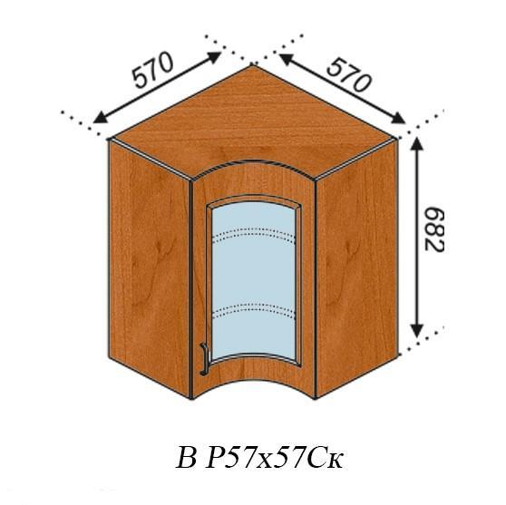 Оля 57х57 угол верх витрина вогнутая