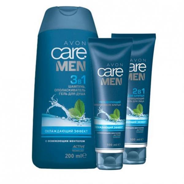Фото для лица, наборы Набор для мужчин «Охлаждающий эффект» с ментолом для сухой/нормальной кожи