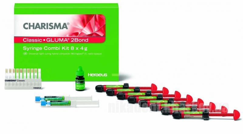 Фото Для стоматологических клиник, Материалы, Фотополимеры Charisma CLASSIC Syr Combi kit (8 х 4г+Gluma 2Bond)