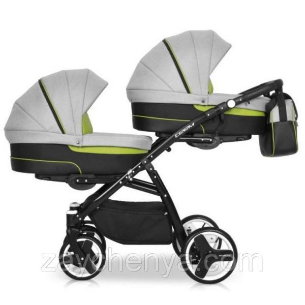Детская универсальная коляска для двойни Riko Team Duo 03