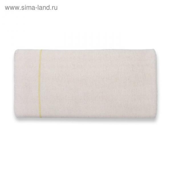 Подушка плоская, размер 50х26 см, чехол лён, поролон
