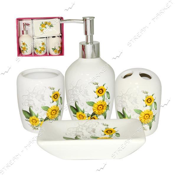 Набор для ванной комнаты SNT Луговые цветы 888-06-018