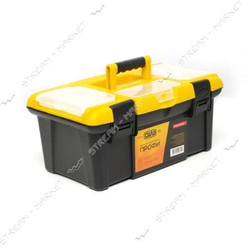 Ящик для инструмента СИЛА 330108 Профи 16' 400х250х180 мм