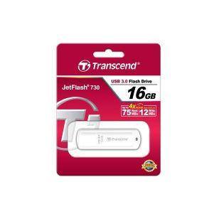 TRANSCEND JetFlash 730 16 GB USB 3.0 White (Код товара:3465)