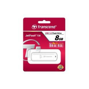 TRANSCEND JetFlash 730 8 GB USB 3.0 White (Код товара:3492)