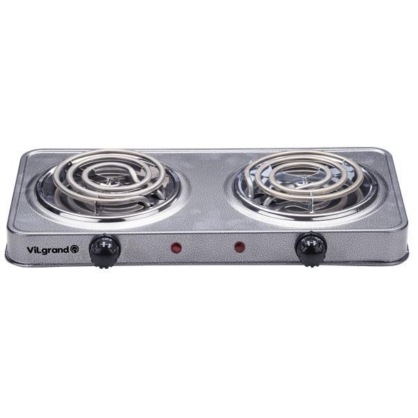Плита электрична 2 к.; 2х1000 Вт ViLgrand VHP132_grey