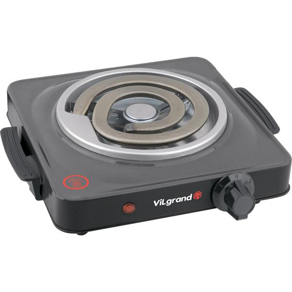 Плита электрична 1 к; 155 мм; 1000 Вт (широкий тен) ViLgrand VHP141D_grey