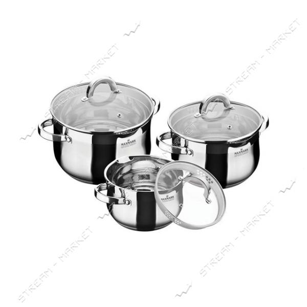 Maxmark набор посуды MK-BL6506F, (3кастрюли крышки)